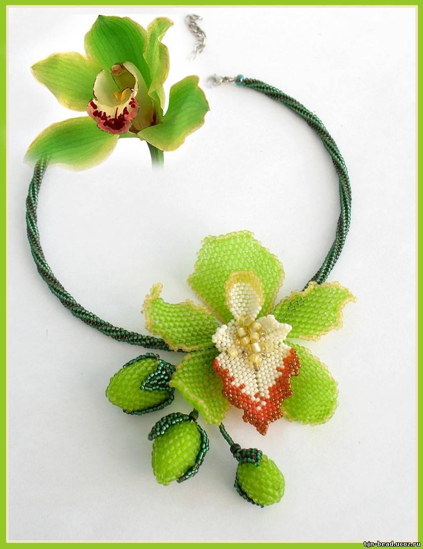 Схема для плетения цветка орхидеи из бисера без помощи других. www.hobbies.pp.ua Схема для плетения цветка орхидеи из...